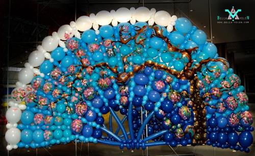 中式古典气球人 气球人偶 气球新人 海洋主题布景 婚礼之丘比特之箭